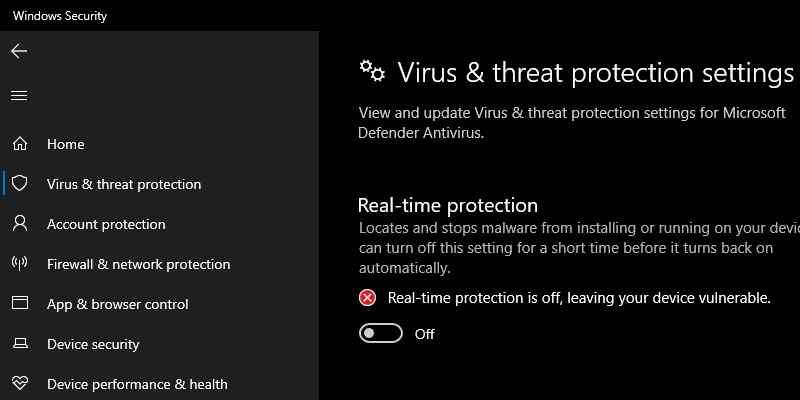 Disable Antivirus Programs