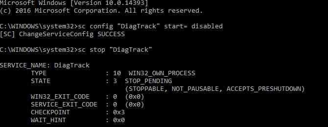 Disable Diagnostic Tracking In Windows 10