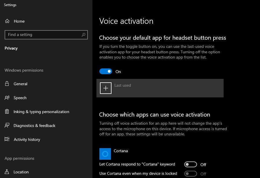 Disable Voice Activation