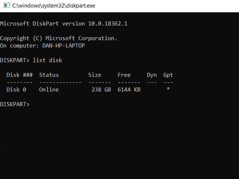 Enable Windows Partition
