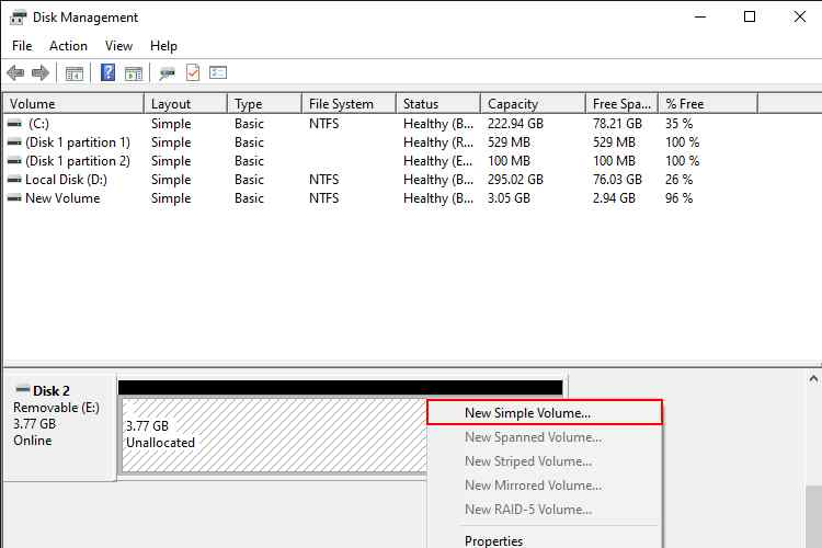 External Hard Drive Becomes Unallocated Space