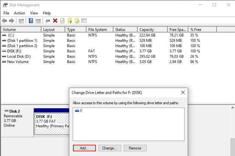 External Hard Drive Doesn't Have Drive Letter