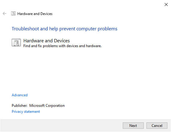 Fix Mouse Problems With Hardware Troubleshooter