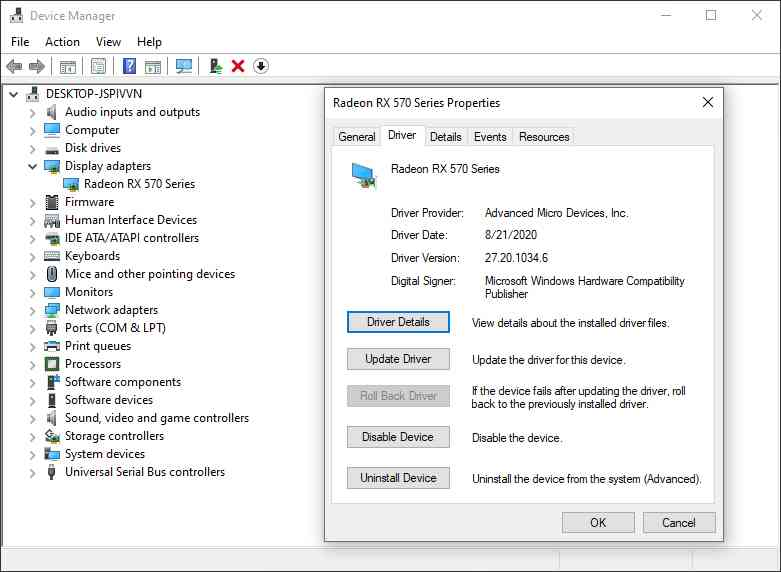 How to Roll Back Driver Using Device Manager