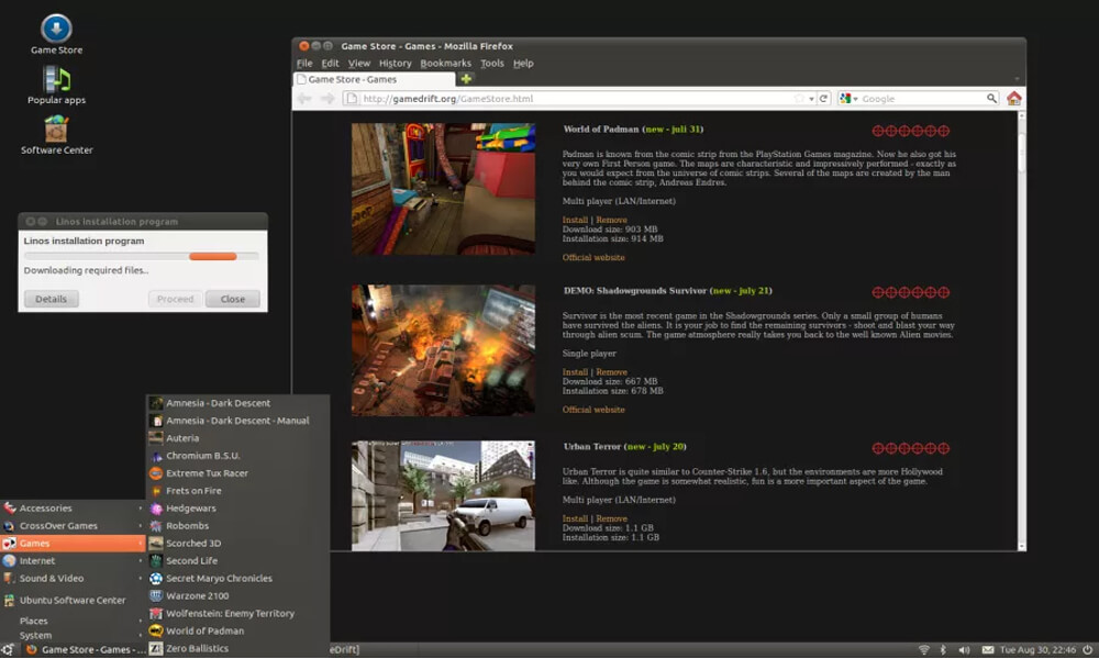 Linux Drift Games