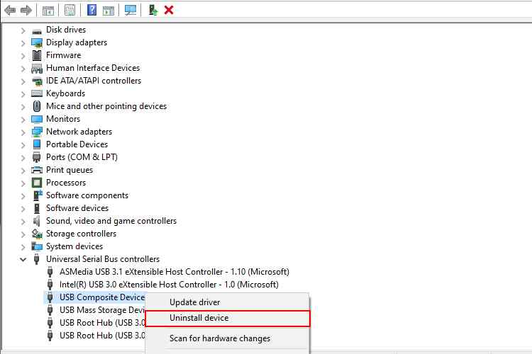 Reinstall USB Controllers
