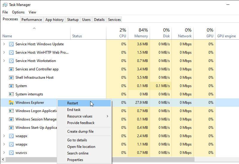Reset File Explorer