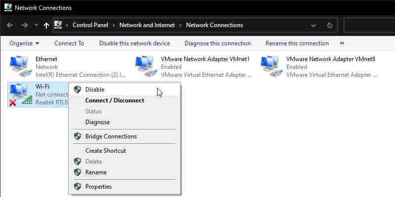 Reset WiFi Network