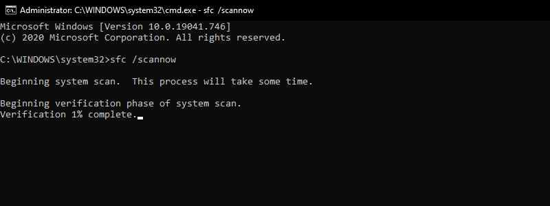 Run SFC Scan