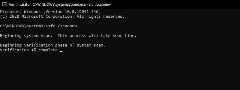 Run SFC (System File Checker)