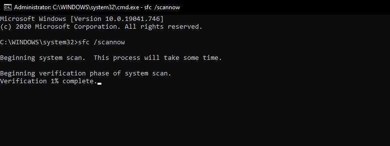 Run SFC System Scan