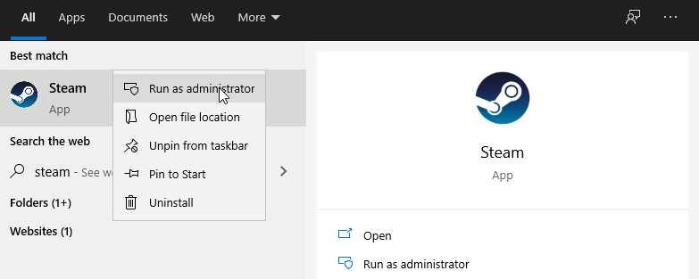 Run Steam As Administrator