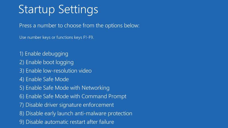 Run Windows 10 Safe Mode