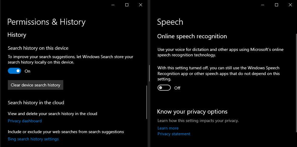 Turn Off Cortana To Record And Save Search Habits And History