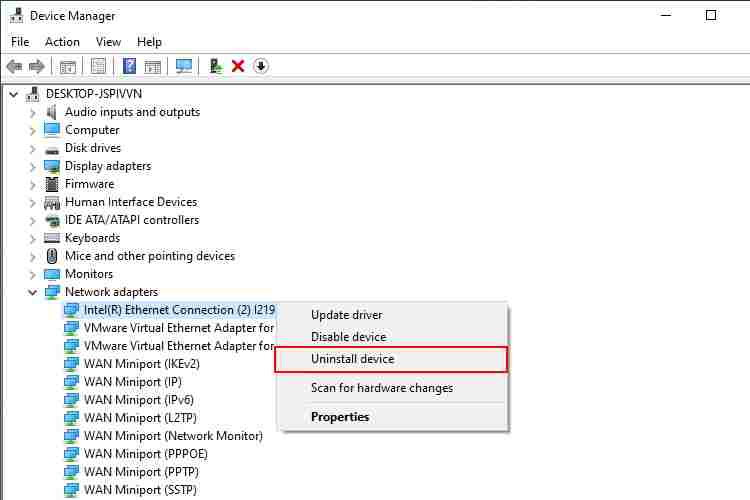 Uninstall And Reinstall Network Driver