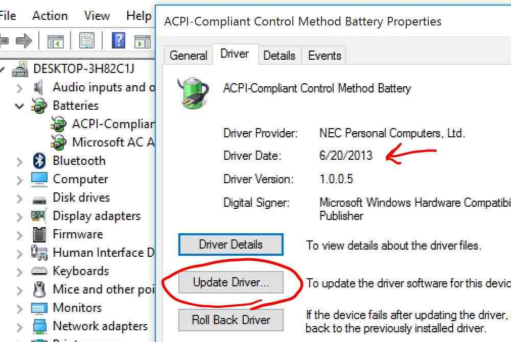 Update Or Reinstall Battery Drivers