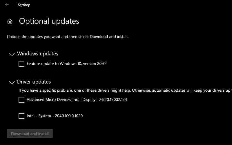 Update System Driver