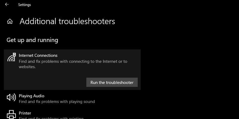 Use Windows Network Diagnostics