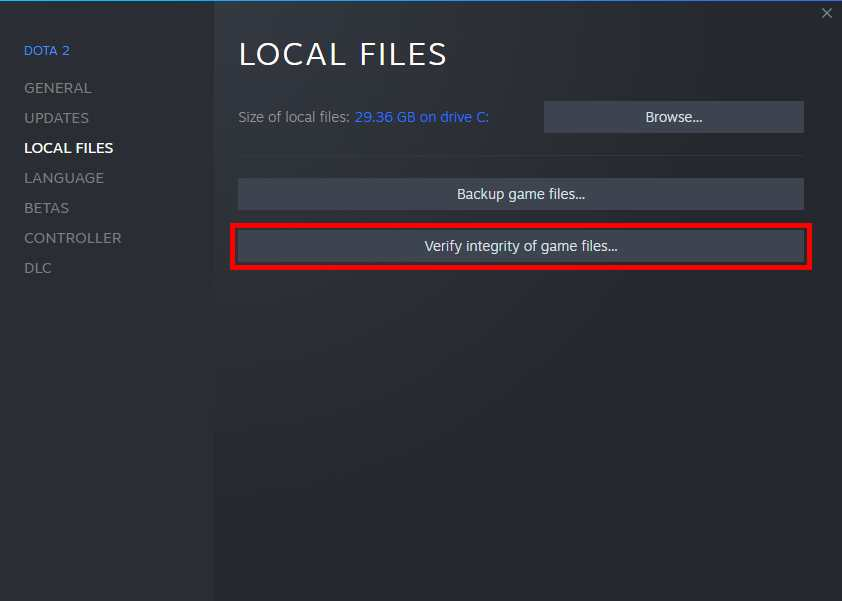 Verify Game File Integrity