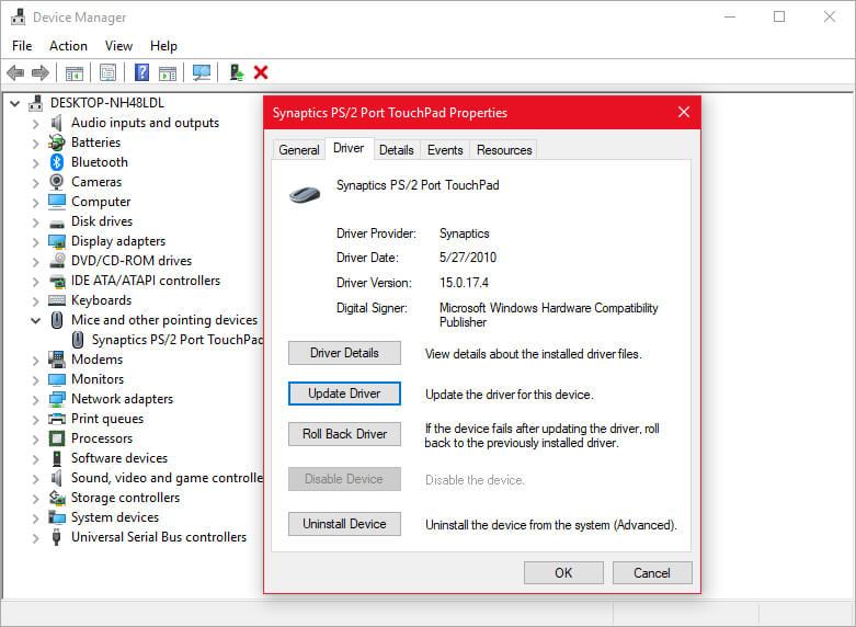 Windows 10 Touchpad Freezing