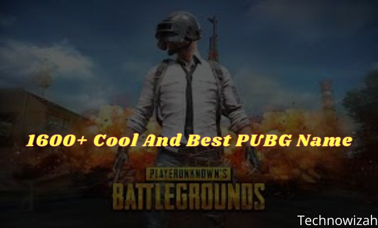 1600+ Cool And Best PUBG Name