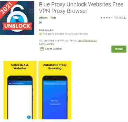 Blue Proxy Browser