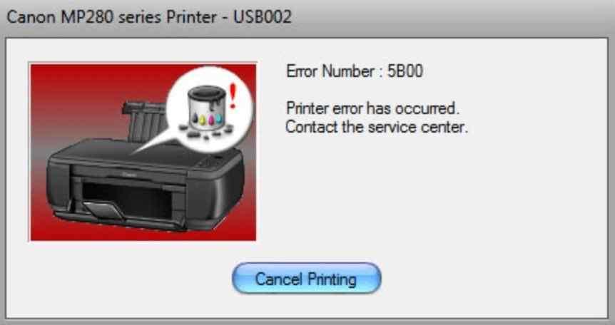 Canon MP287 Printer Error