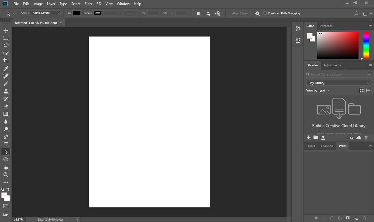 Creating an A4 Canvas in Photoshop