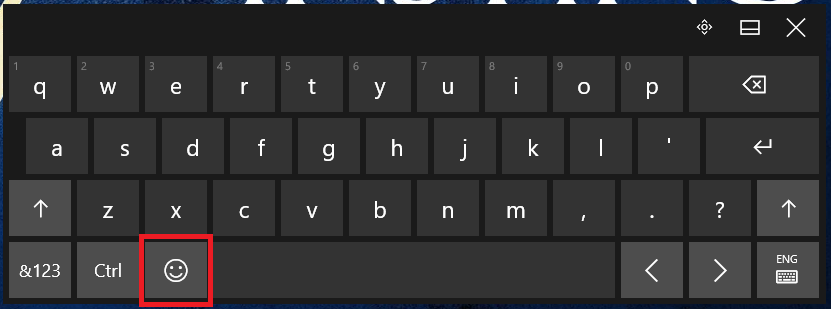 How to Bring Up Emojis in Windows 8.1 and 10