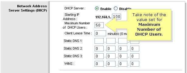 Increase the Number of DHCP Users