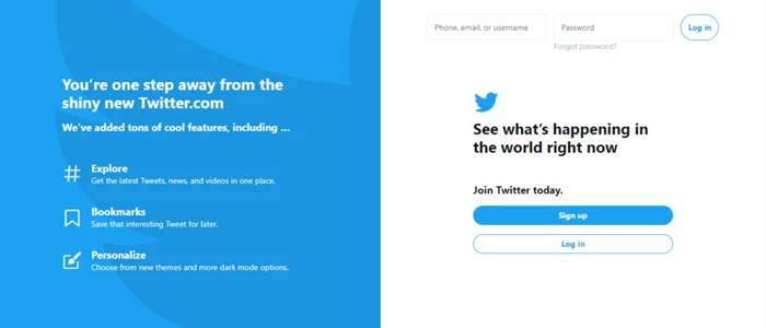 Log in on Twitter Official Site
