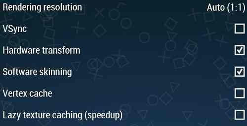 PPSSPP Graphic Settings