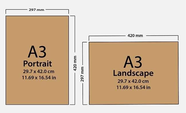 Paper Size A3