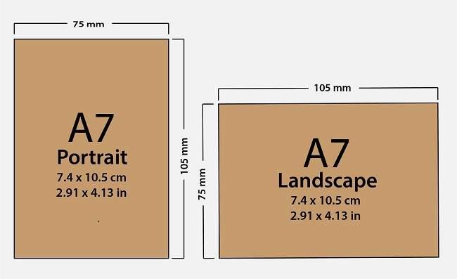 Paper Size A7