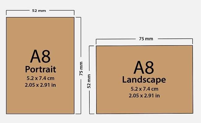 Paper Size A8