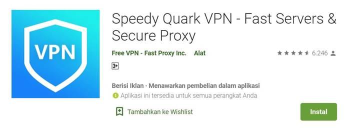 Speedy Quark VPN