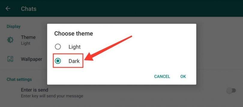Steps to Change WhatsApp Dark Theme